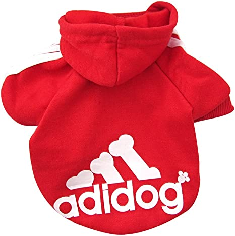 TALLA XS. DULEE adidog perro caliente sudaderas abrigo mono ropa mascota chaqueta suéter algodón Outwear traje rojo XS