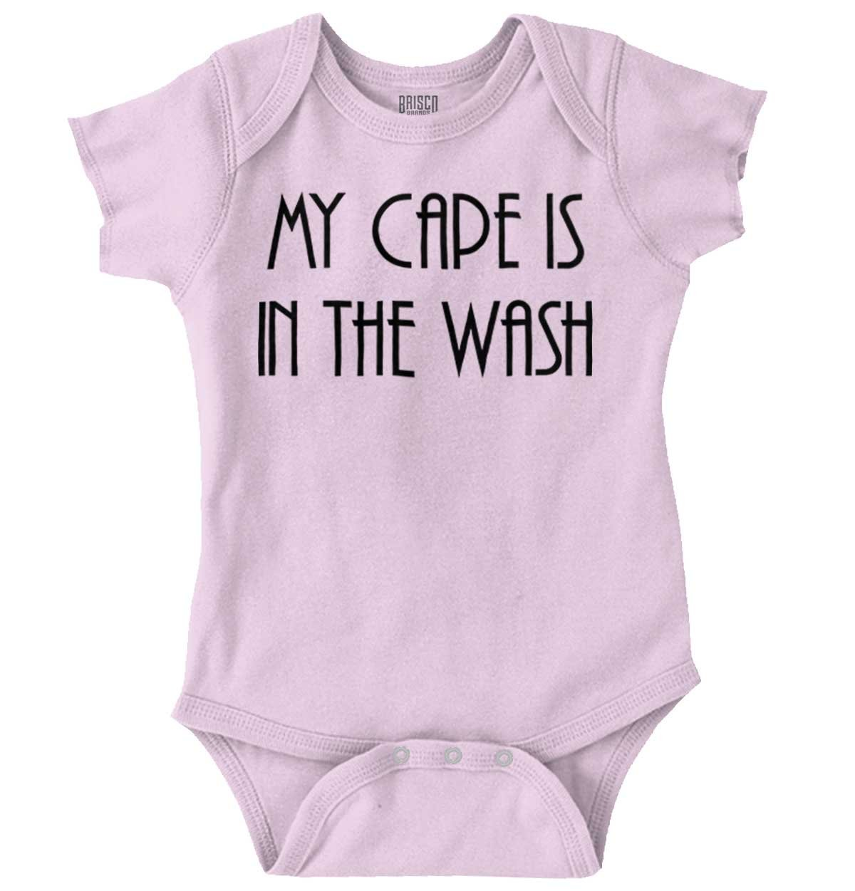 Cape in Wash Funny Shirt Cute Baby Superhero Lego