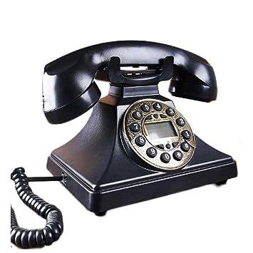 Zerone Retro Telefon Dekoratives Schnurgebundenes Antikes Telefon H/ängender Telefon Anrufer mit LCD Anzeige