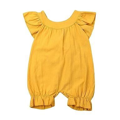 HEETEY Pijama para niña, recién Nacido, sin Mangas, para bebé, para ...