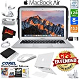 6Ave Apple 13.3 MacBook Air 128GB SSD (MQD32LL/A) + iBenzer Basic Soft-Touch Series Plastic Hard Case & Keyboard Cover for Apple Macbook Air 13-inch 13 (Clear) + 3 Foot Lightning USB Cable Bundle