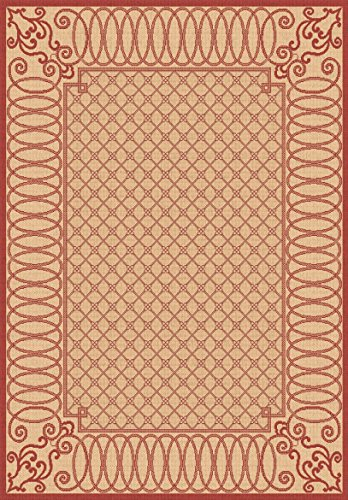 Dynamic Machine Rugs Piazza - Outdoor Area Rug, Dynamic Rugs Piazza Collection 3'11