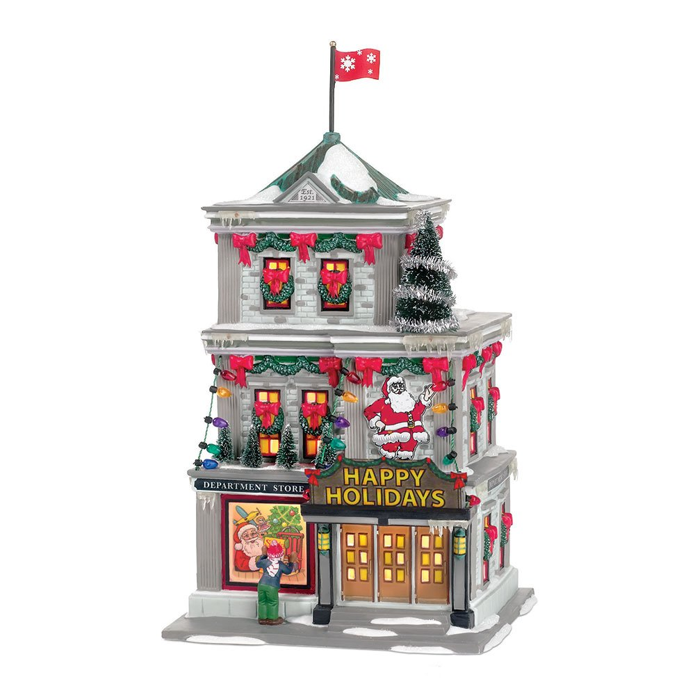 Department 56 A Christmas Story Village Happy Holiday Department Store Lit Building by Department 56