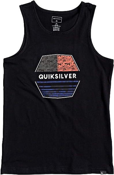 Quiksilver - Camiseta sin Mangas - Niños 8-16 - Negro: Amazon.es: Ropa y accesorios