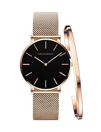 detailed look 2454c a7cc0 レディース 腕時計 Hannah Martin おしゃれ クラシック シンプル 女性 時計 ビジネス 日本製クオーツ バングル ブレスレット  watch for women