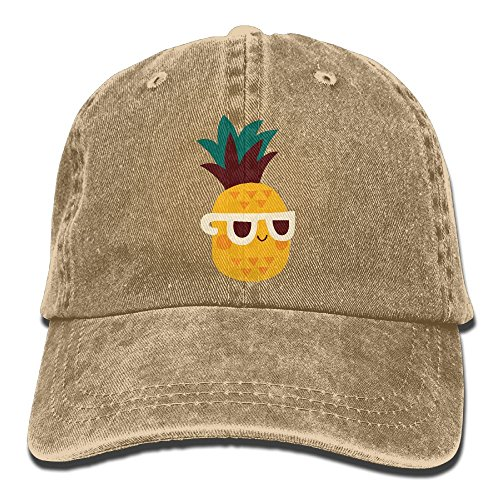 Men Women Pineapple Wear Sunglasses Denim Fabric Baseball Hat Adjustable Street Rapper - Rappers Wear Sunglasses