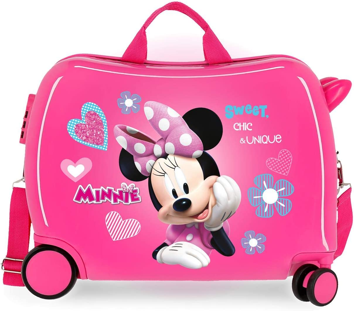 Disney Minnie Fabulous Correpasillos Maleta de Cabina Correpasillos Infantil Rosa 50x39x20 cm   Equipaje de Mano, Trolley de Viaje Ryanair, Easyjet   Maleta Fin de Semana de Viaje Rígida Divertida