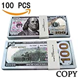YooQn Play Money $10,000 Full Print New Style Money Copy of $100 Dollar Bills Stack, in Authentic Bank Strap