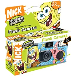 One Time Use Spongebob Squarepants Quicksnap 35MM Camera with Flash