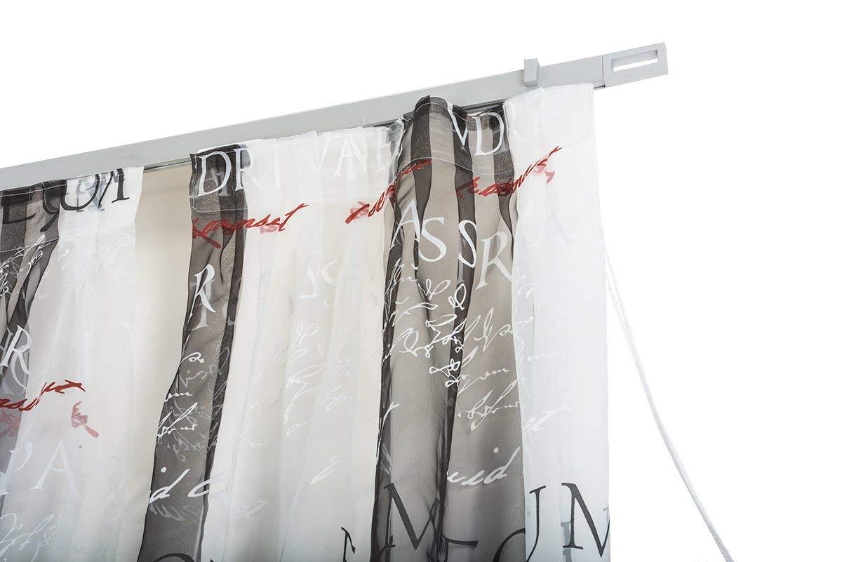 InCasa Binario per Tende 32x12mm, L. 140 cm. in Alluminio Satinato – Completo L. 140 cm. in Alluminio Satinato - Completo Archema
