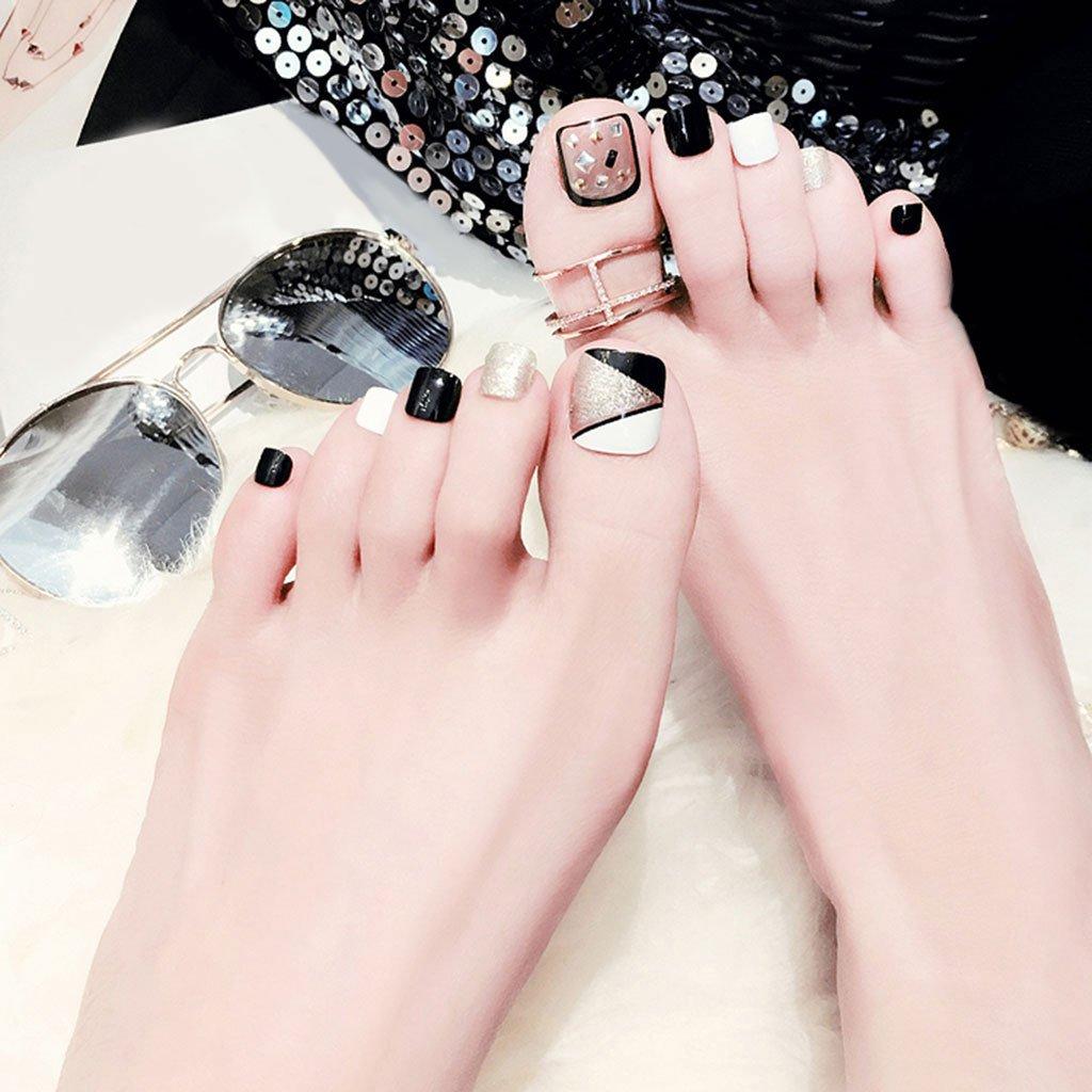 24 uñas postizas de pie falsas para uñas, herramientas de arte de ...
