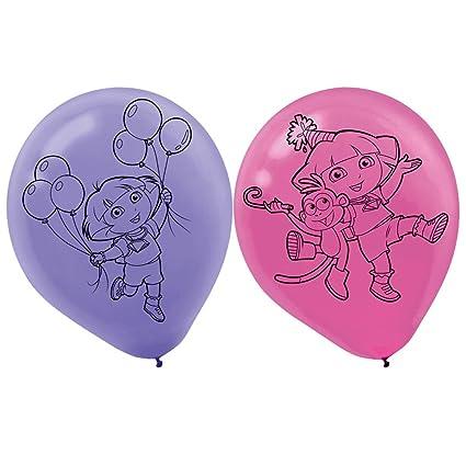 amazon com dora s flower adventure printed latex balloons 6 party