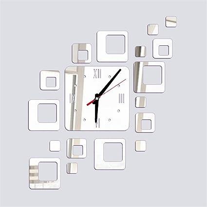 TIFENNY Acrylic Mirror DIY Wall Sticker Clock, Living Room Bedroom Modern Watch Decor Wall-