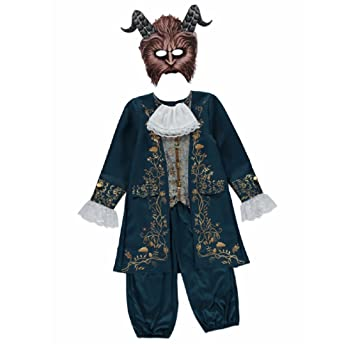 New George Disney Beauty u0026 The Beast Kids Beast Fancy Dress Costume Outfit ...  sc 1 st  Amazon UK & New George Disney Beauty u0026 The Beast Kids Beast Fancy Dress Costume ...