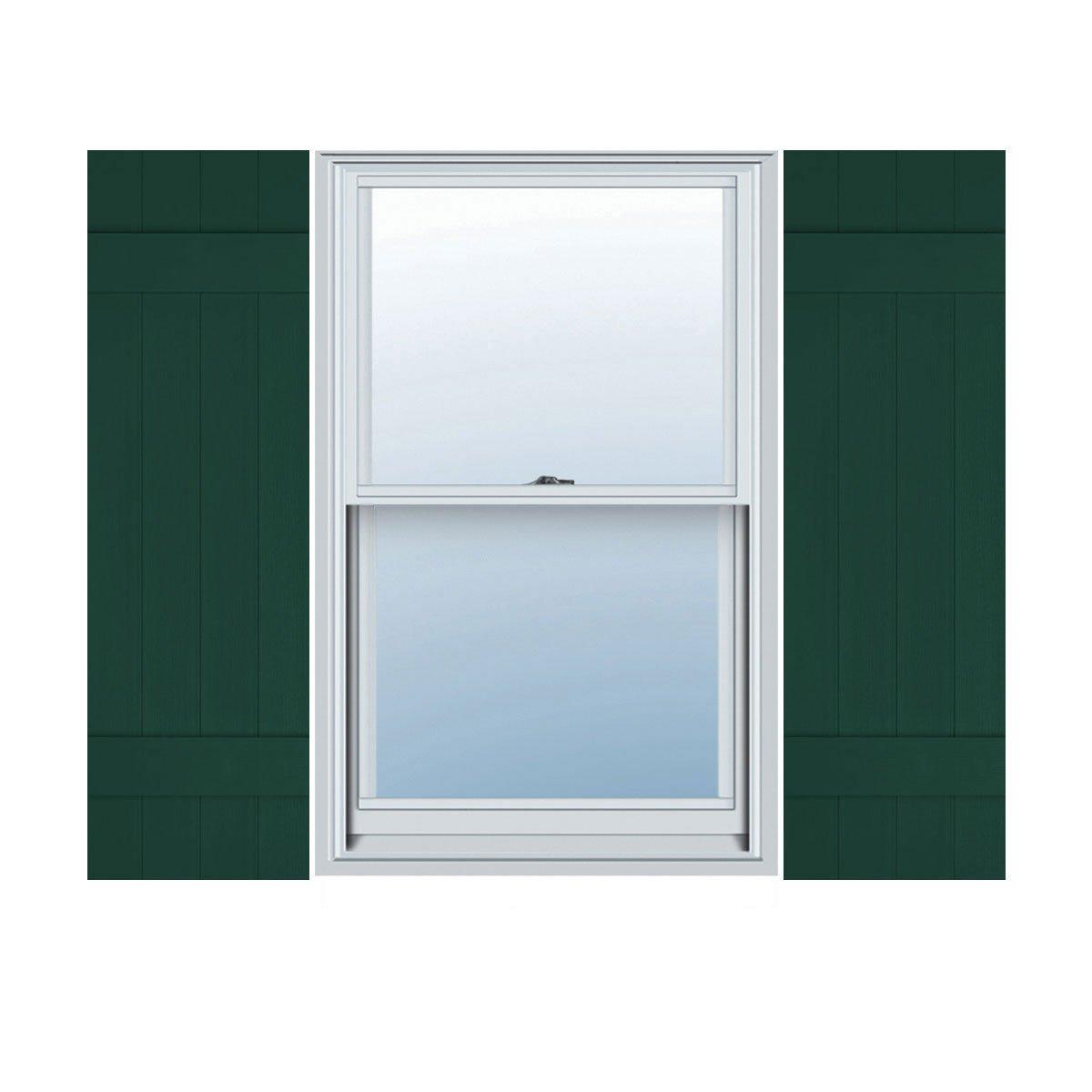 Midnight Green Per Pair Ekena Millwork LJ4S14X04700MG Lifetime Vinyl Standard Shutter 14W x 47H
