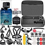 GoPro HERO7 Silver + 32GB Memory Card + Hard Case + Card Reader + Chest Strap Mount + Head Strap Mount + Flexible Tripod + Extendable Monopod + Floating Handle + Hero 7 Best Value Bundle