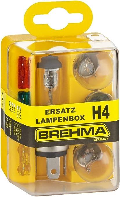 brehma H4 – Caja de bombillas de recambio para bombillas de repuesto Caja bombillas de repuesto Set 12 V 8teilig: Amazon.es: Coche y moto