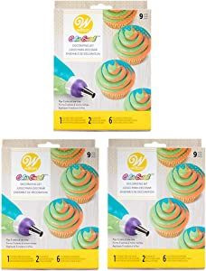 Wilton Color Swirl 3-Color Coupler 9-Piece Decorating Kit, 3 pack