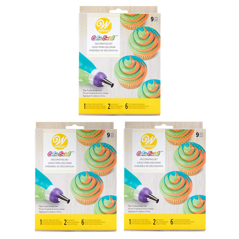 Wilton Color Swirl 3-Color Coupler 9-Piece Decorating Kit, 3 pack