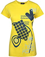 Official Hed Kandi Women's Yellow T-Shirt by Worn