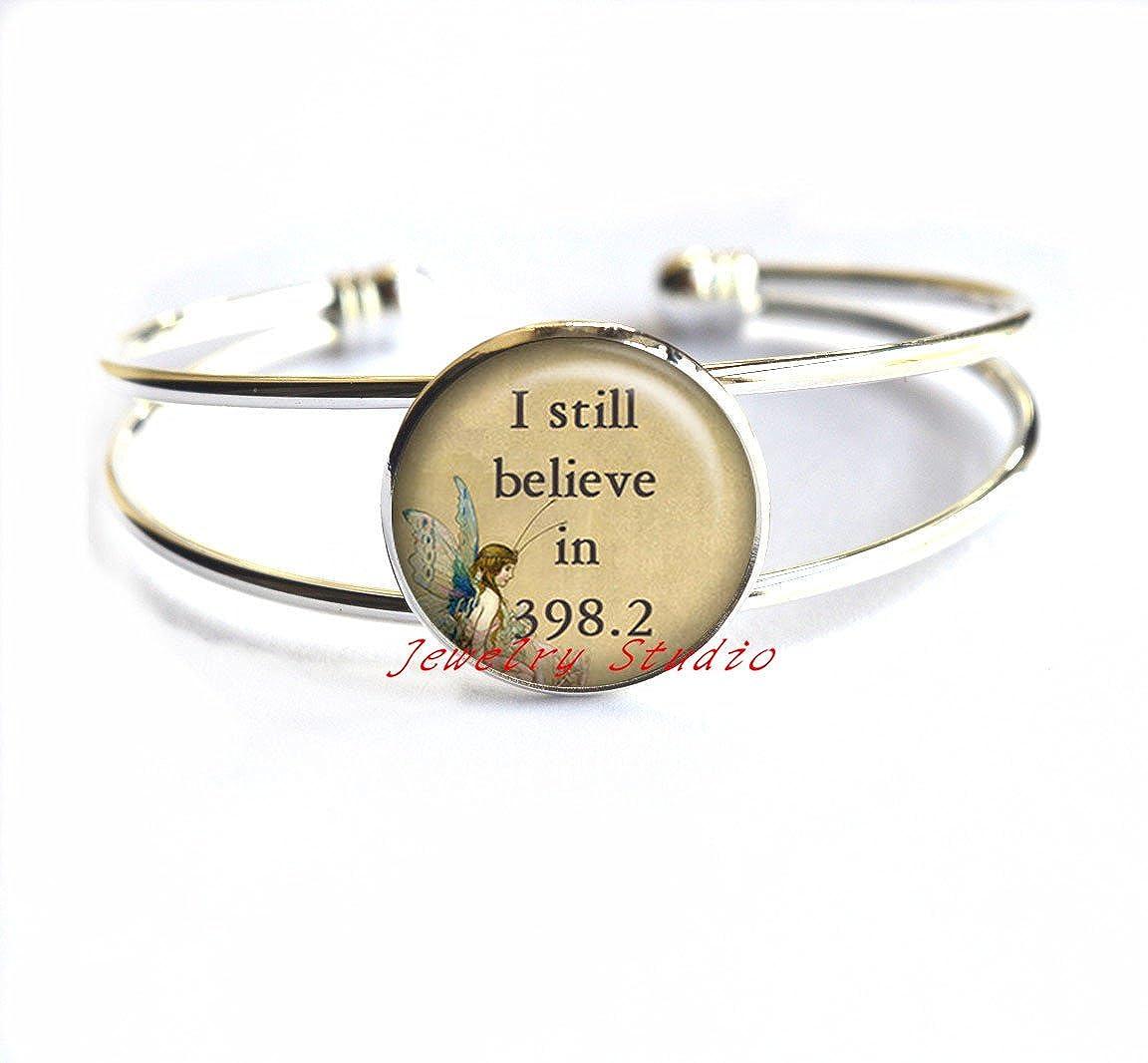 fairy tale Bracelet charm fairy jewelry book lover jewelry jewelry 398.2 Bracelets-HZ00357 I still believe in 398.2 with Fairy Bracelet