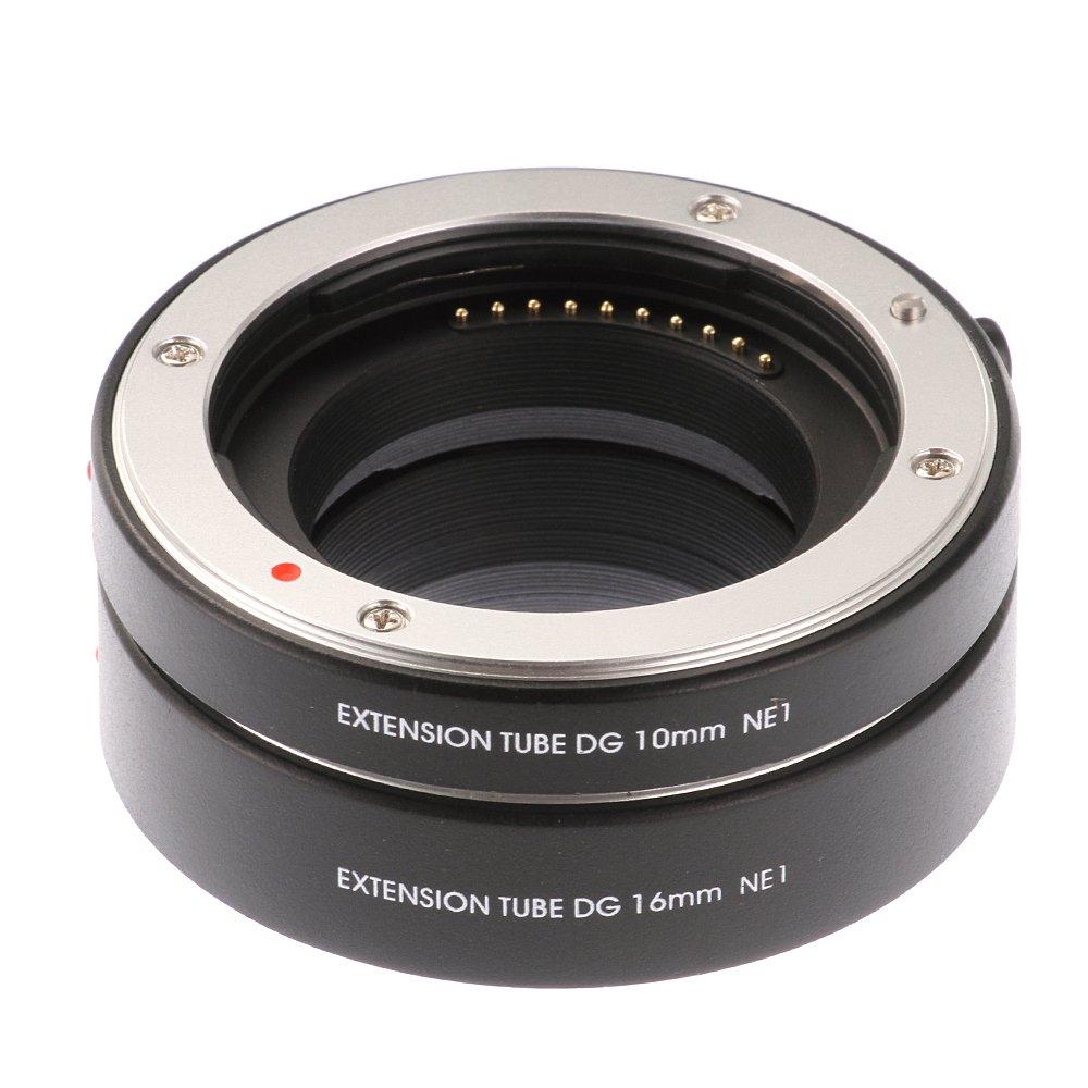 Ruili Metal AF Automatic Macro Extension Tubes 10mm 16mm Set DG for Samsung NX NX1 NX5 NX10 NX20 NX30 NX11 NX100 NX200 NX210 NX300 NX300M NX1000 NX1100 NX2000 NX3000 NX3300 Galaxy camera, Extreme Clos by Ruili