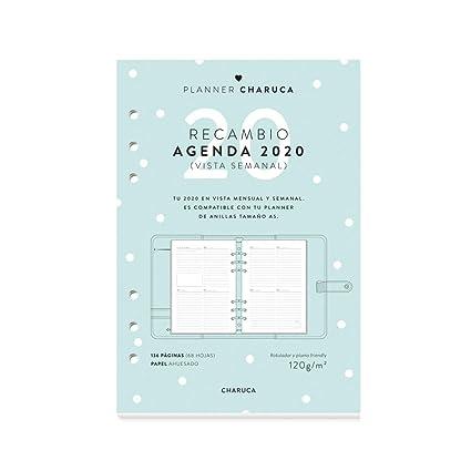 Recambio Agenda 2020. Semanal. A5: Amazon.es: Oficina y ...