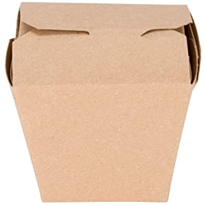 MM Foodservice Chinese Take Out Boxes, Microwavable Take Out Container, Grease and Leak Resistant Restaurant Grade Boxes (Natural, 8-Ounce)