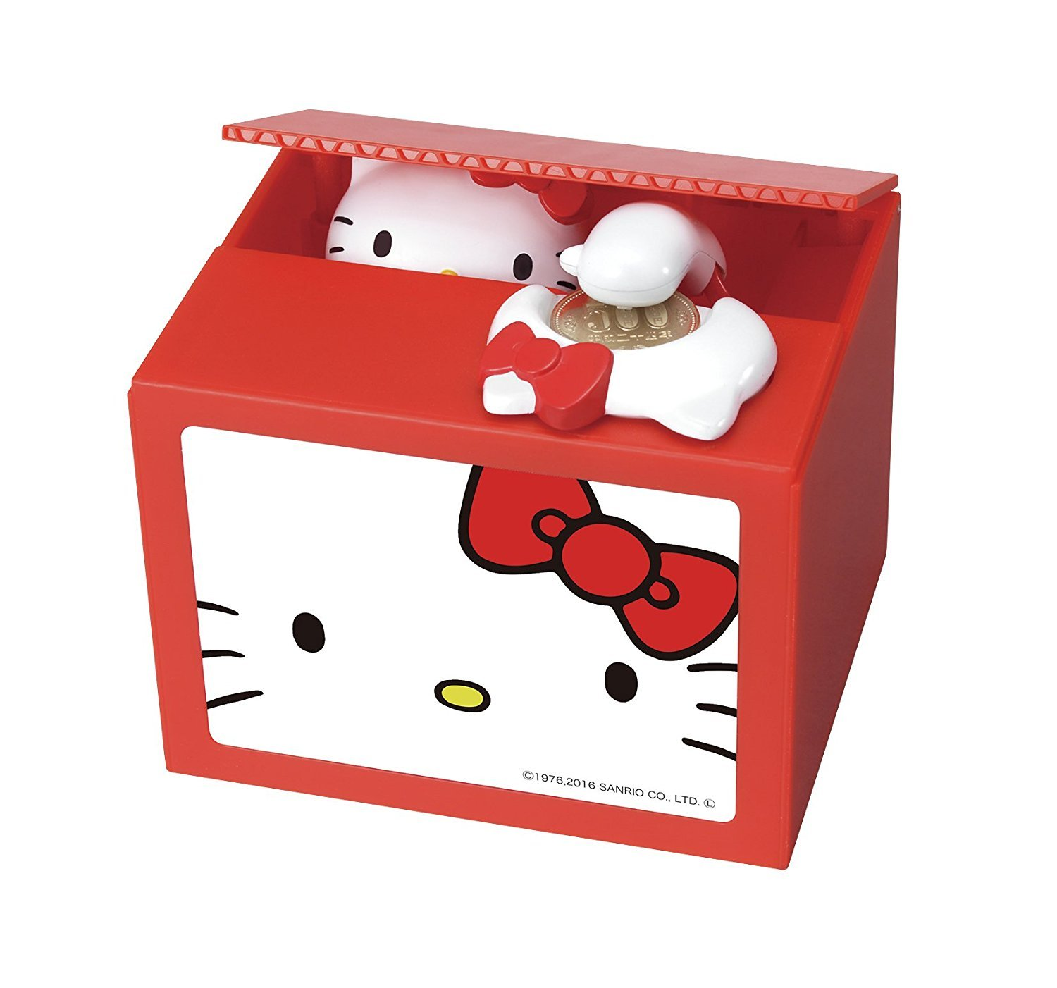 Itazura Coin bank present Cutest Hello Kitty Piggy Bank box (hello kitty) TOMY