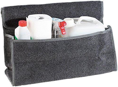 Lescars Anti-Rutsch-Kofferraumtasche mit Klettbefestigung