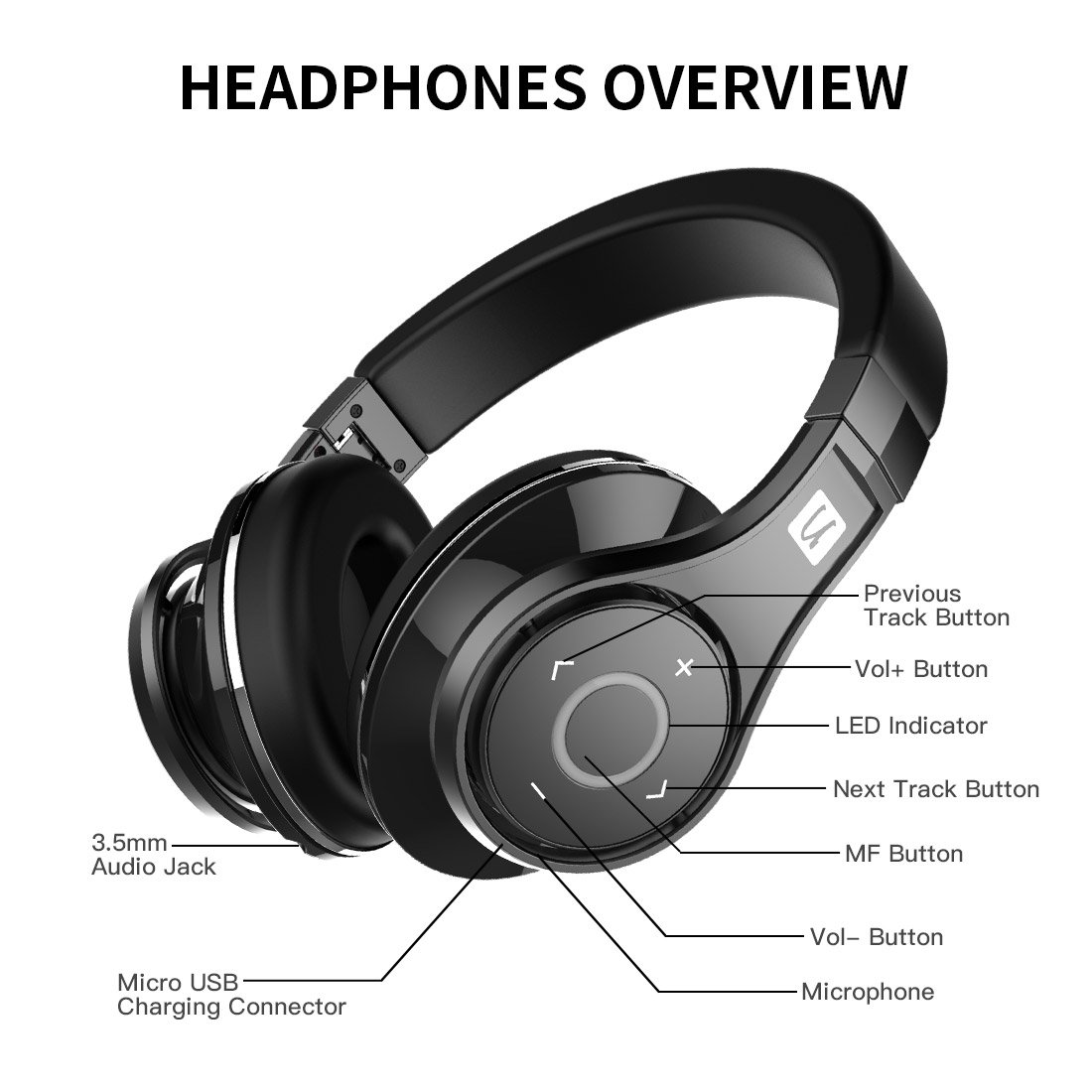 Bluedio U Ufo Pps 8 Drivers High End Bluetooth Wiring Diagram Building Noise Canceling Headphones Microphone Revolution 3d Sound Effect Aluminum Alloy Build Hi Fi Rank Wirelesswired Over Ear