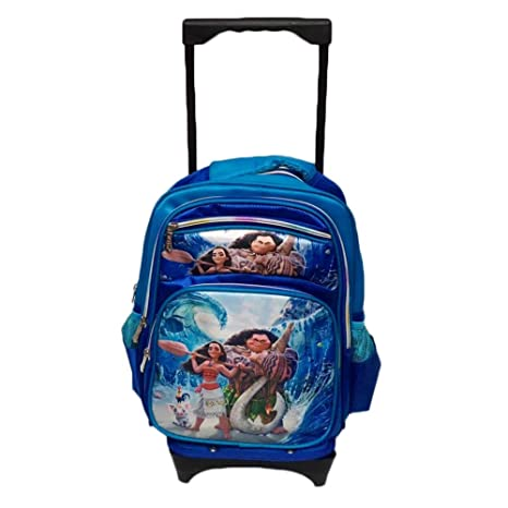 Moana Schoolbag Descompresión Mochila Trolley Caja de Impresión de Dibujos Animados Bolsa de Carrito Mochila de