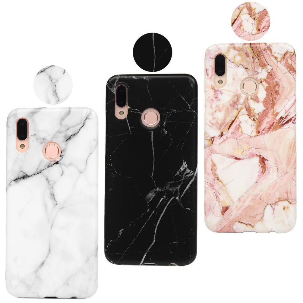 idlehour Huawei P20 Lite 3 Stück Handyhülle Schutzhülle Cover Case Silikon Bumper Schutz Tasche Schale Antikratz Backcover