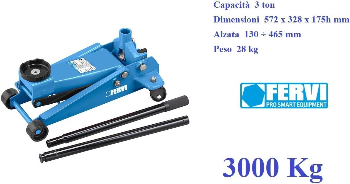 Fervi C038 30 Hydraulischer Wagenheber 3000 Kg 3 Tonnen Auto