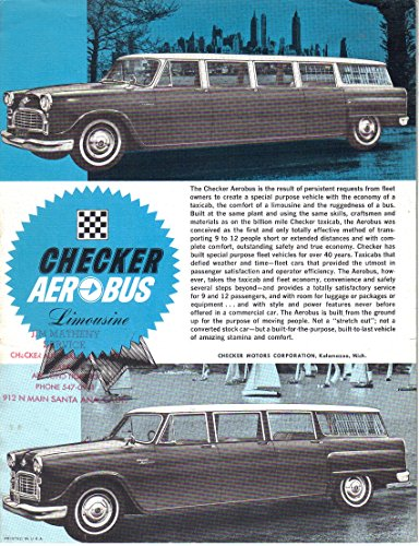 - Checker AEROBUS Limousine, Sales Brochure Ad Photo
