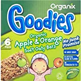 Organix Goodies Organic Soft Oaty Bars - Apple & Orange 12mth+ (6x30g) - Pack of 6