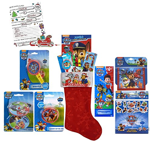 Nickelodeon Paw Patrol All Inclusive 12pc Pre-Filled Christmas Stocking! Plus Bonus