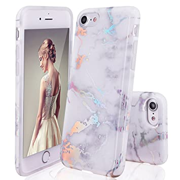 33276c100e1 DOUJIAZ iPhone 6 Hülle, iPhone 6S Schutzhülle, Marmor Design Transparent  Bumper TPU Soft Case