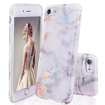 33276c100e1 DOUJIAZ iPhone 6 Hülle, iPhone 6S Schutzhülle, Marmor Design Transparent  Bumper TPU Soft Case