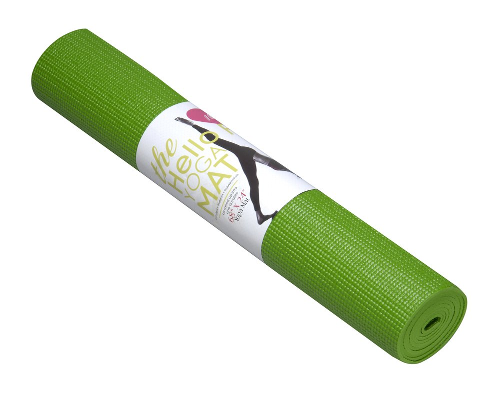 Hello Fit Yoga Mats - Budget-Friendly 10-Pack - Non-Slip - Moisture Resistant - Non-Toxic - Durable (Green)