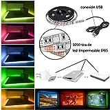 LED TV Retroilluminazione Bias Illimitazione con Telecomando, 1M/3.28ft STRISCIA LED USB TV per HDTV da 40 a 60 pollici, monitor PC
