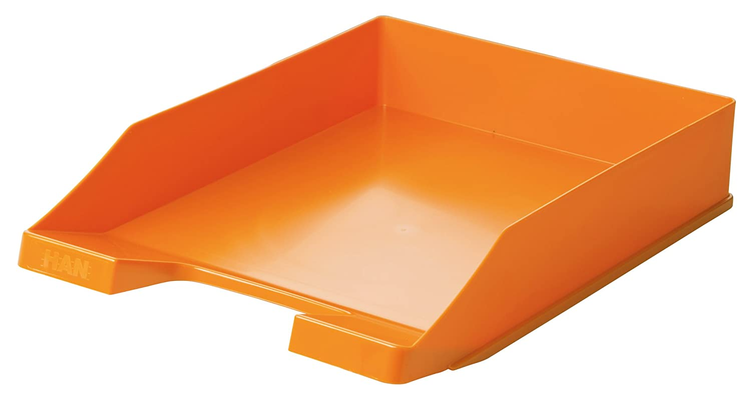 HAN Briefablage KLASSIK, DIN A4/C4, stapelbar, stabil, modern, Trend Colour orange 1027-X-51