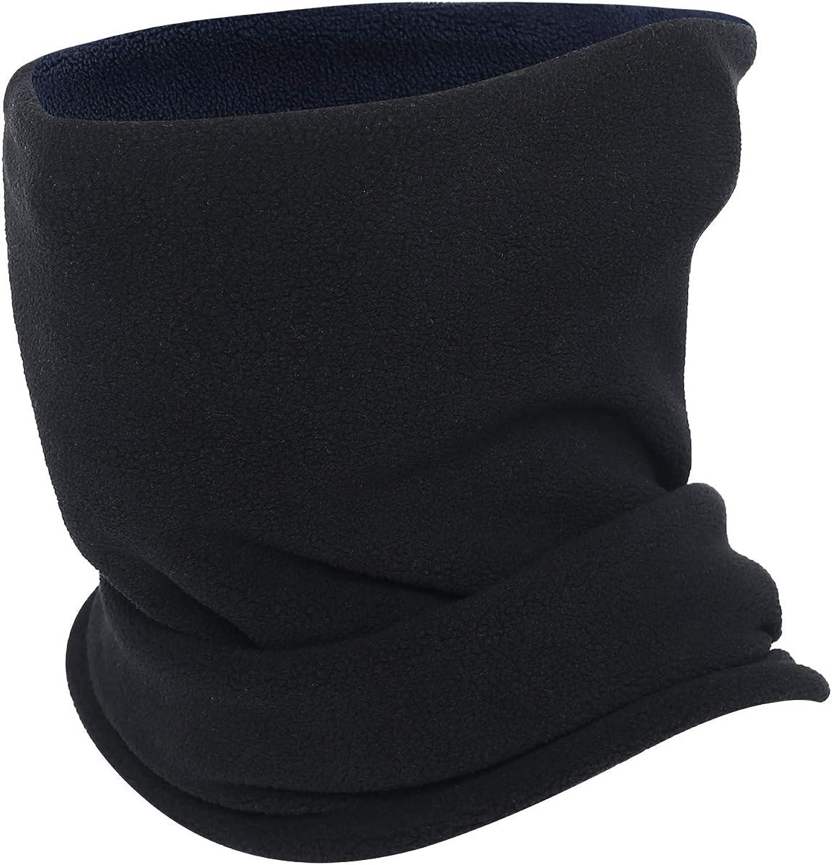 Omeneex Neck Warmer Gaiter- Double Layer Winter Thicken Soft Elastic Fleece