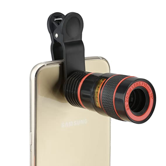 9a6e14b1cdd002 BlueBeach Universal Clip Camera Mobile Phone 8x Optical Zoom Lens Telescope  for iPhone, HTC,