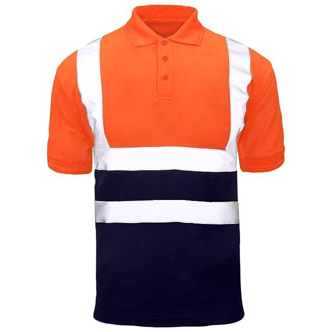 5366800b9 MyShoeStore Hi Viz Vis Alta Visibilidad Polo Camisa Reflectante Cinta Ropa  de Trabajo Seguridad Camiseta: Amazon.es: Ropa y accesorios