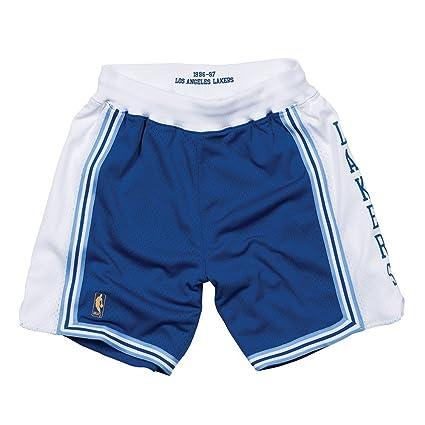 13d417303c25 Amazon.com   Mitchell   Ness Los Angeles Lakers NBA Men s 1996-97 Alternate  Blue Authentic Shorts   Sports   Outdoors