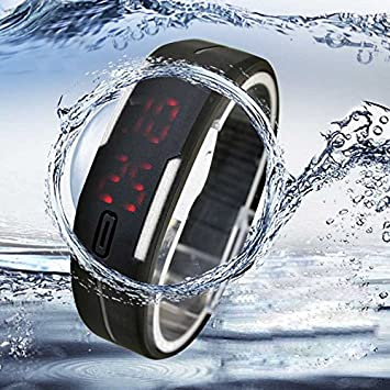 Quaanti Digital Watch Ultra Thin Men Girl Sports Silicone Digital LED Wristwatch Bangle Bracelet Dress reloj