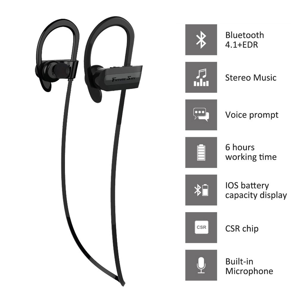 Auriculares Bluetooth Outdoor Wireless earbuds auriculares estereo con microfono Hd deportes impermeable mejores auriculares inalámbricos para Gym Running ...