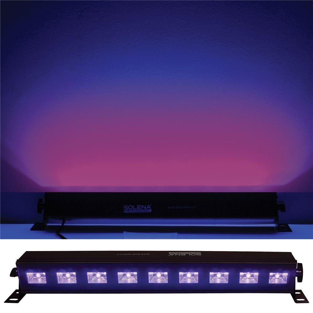 Solena Max Bar Mini UV 9x3-Watt LED UV DJ & Stage Black Light
