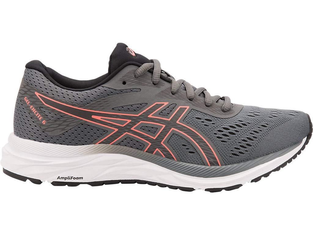 ASICS Women's Gel-Excite 6 Running Shoes, 5M, Steel Grey/Papaya
